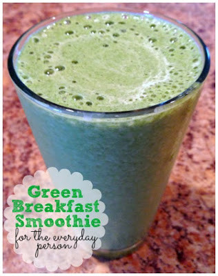 Green Breakfast Smoothie Recipe