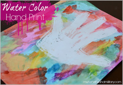 Water Color Hand Print