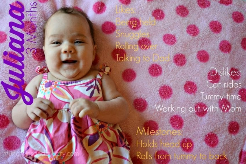 baby juliana - 3 months old - likes/dislikes and milestones