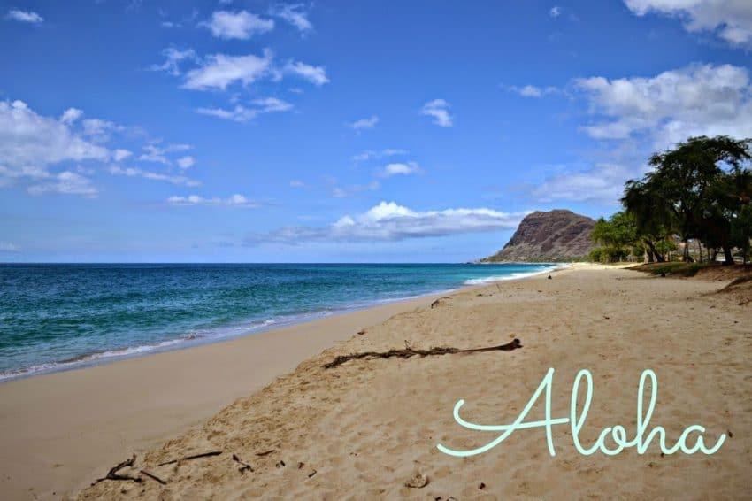 Hawaii sandy beach