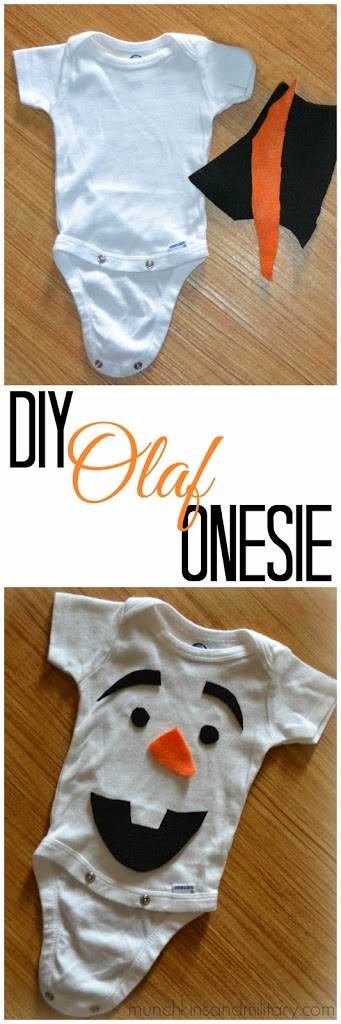 Pinable DIY Olaf onesie costume