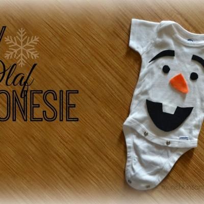DIY Olaf Onesie Costume
