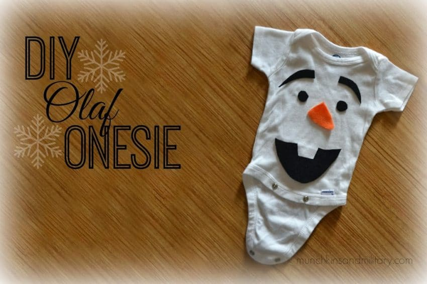 DIY Frozen Olaf baby costume from onesie and felt