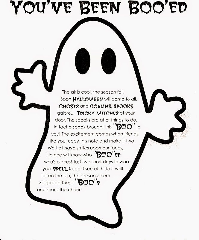 you've been boo'd ghost and poem