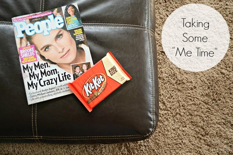People magazine and king sized KitKat