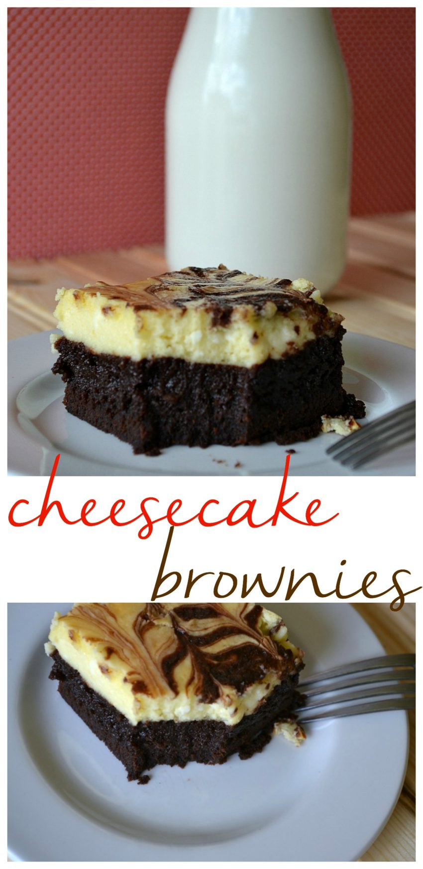 Easy to make cheesecake brownies