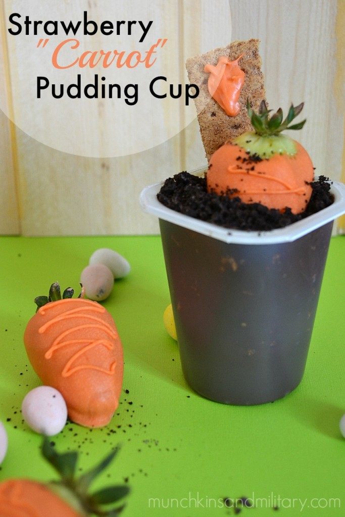 """Strawberry """"Carrot"""" Pudding Cup"""