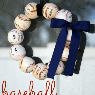 Let's Play Ball – Baseball Wreath