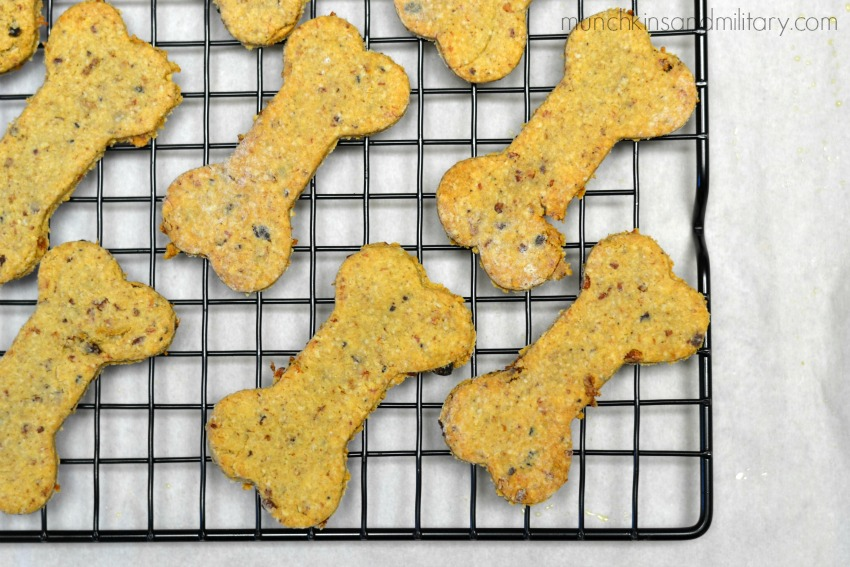 Bacon and cheddar dog treats baked