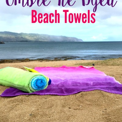 Ombre Tie Dyed Beach Towels