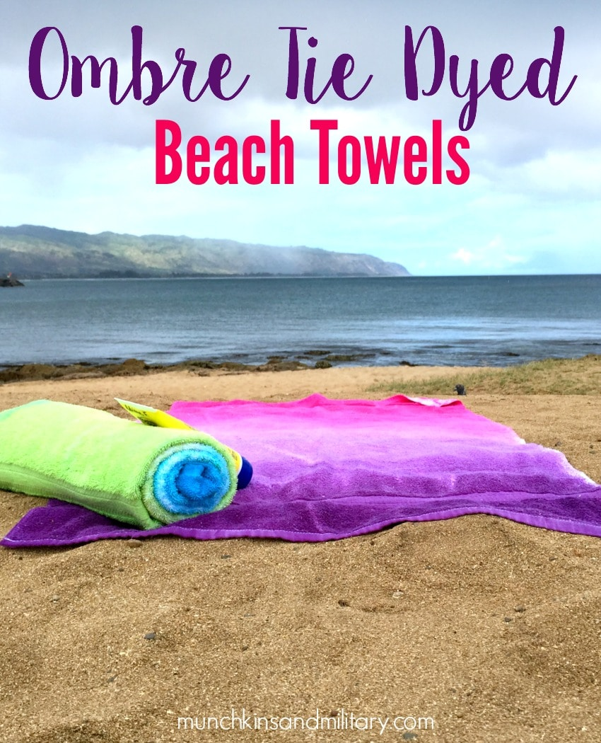 Ombre Tie Dyed Beach Towels - So easy and pretty to make for the beach this summer!