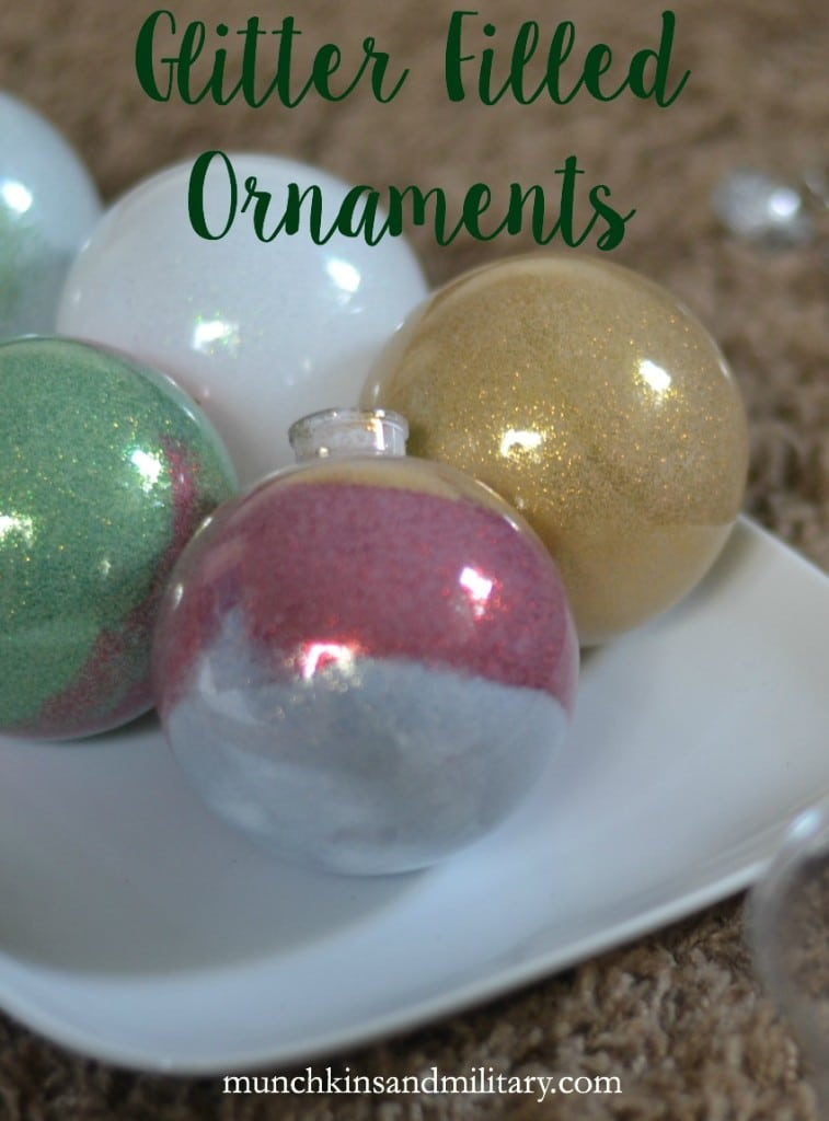Make your holidays shine with these easy homemade glitter filled ornaments #CleanForTheHolidays ad