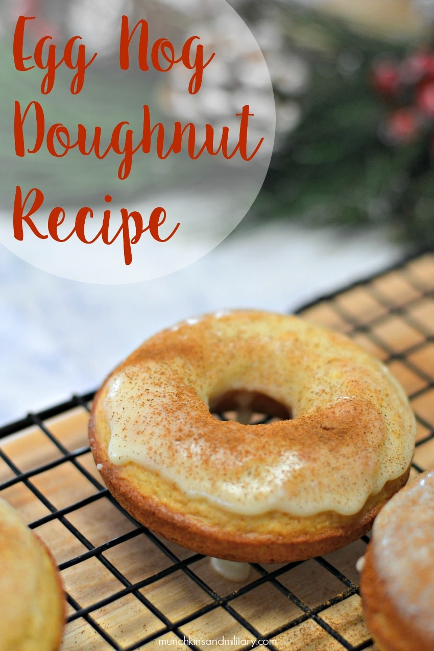 A Baked Egg Nog Doughnut Recipe that is perfect for the holidays!