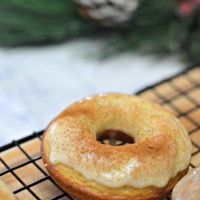 Egg Nog Doughnuts