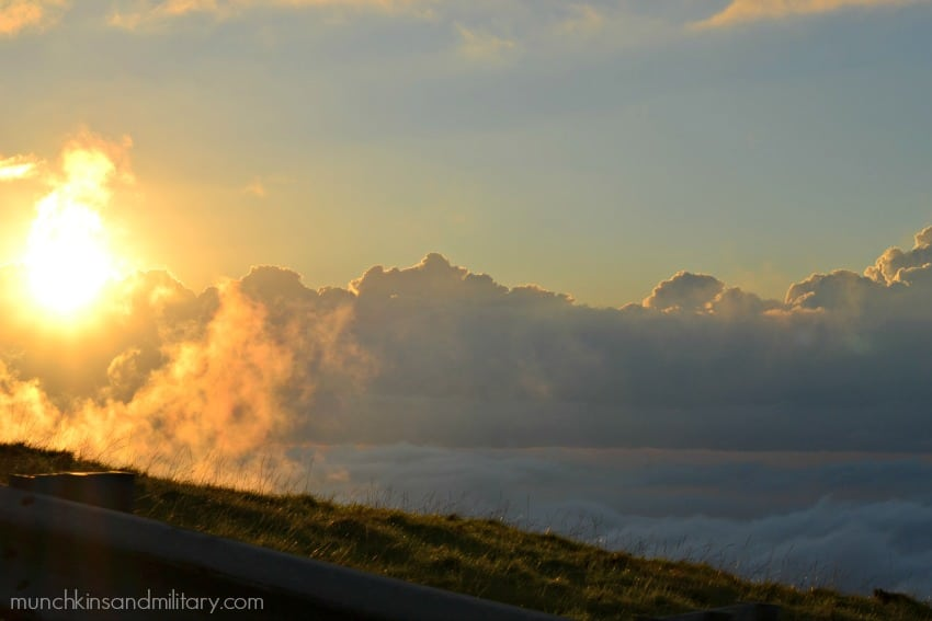 Haleakala clouds and sun