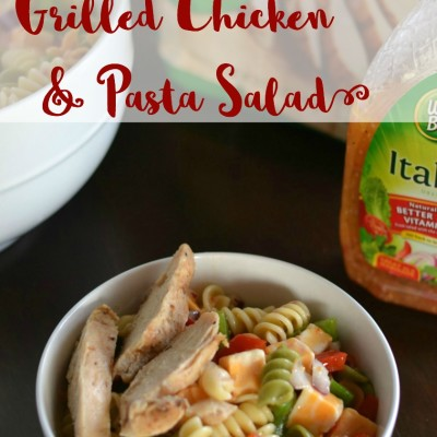#ad Easy Grilled Chicken & Pasta Salad Recipe