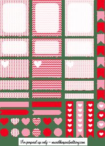 Valentines Erin Condren Life Planner Free Printable Stickers - Cricut & Silhouette