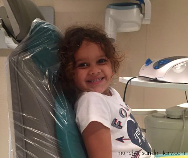 Adri sitting in the detntal chair - MetLife TRICARE Dental Program