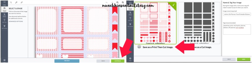 Cleaning and saving Print Then Cut images in Cricut Design Space