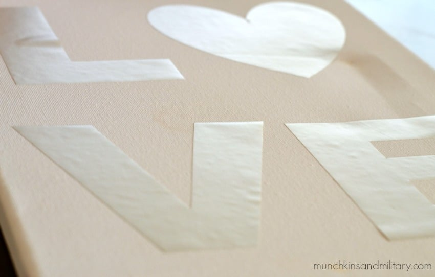LOVE painted canvas craft project for kids!