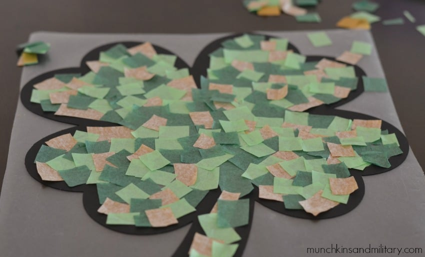 Contact paper + tissue paper craft