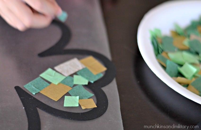 Little tissue paper squares