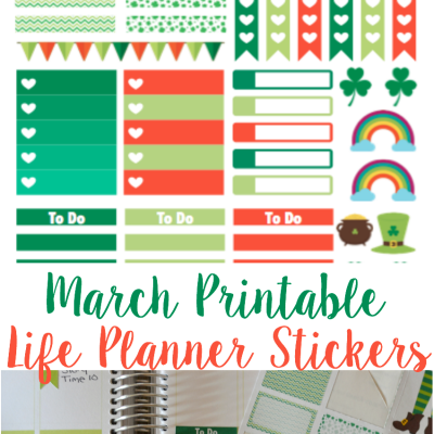 March Printable Planner Stickers