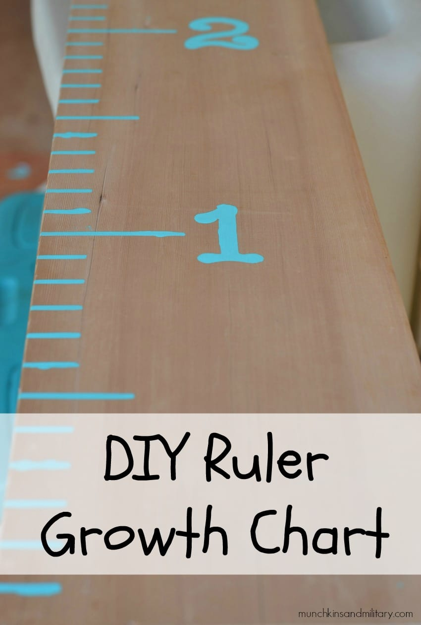 This easy to make growth chart is done in under 30 minutes & is easy for even a noncrafter to make!
