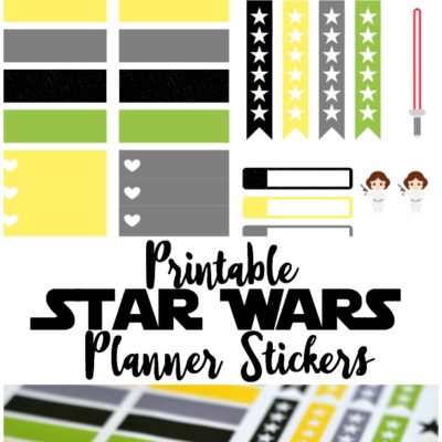 Printable Star Wars Planner Stickers