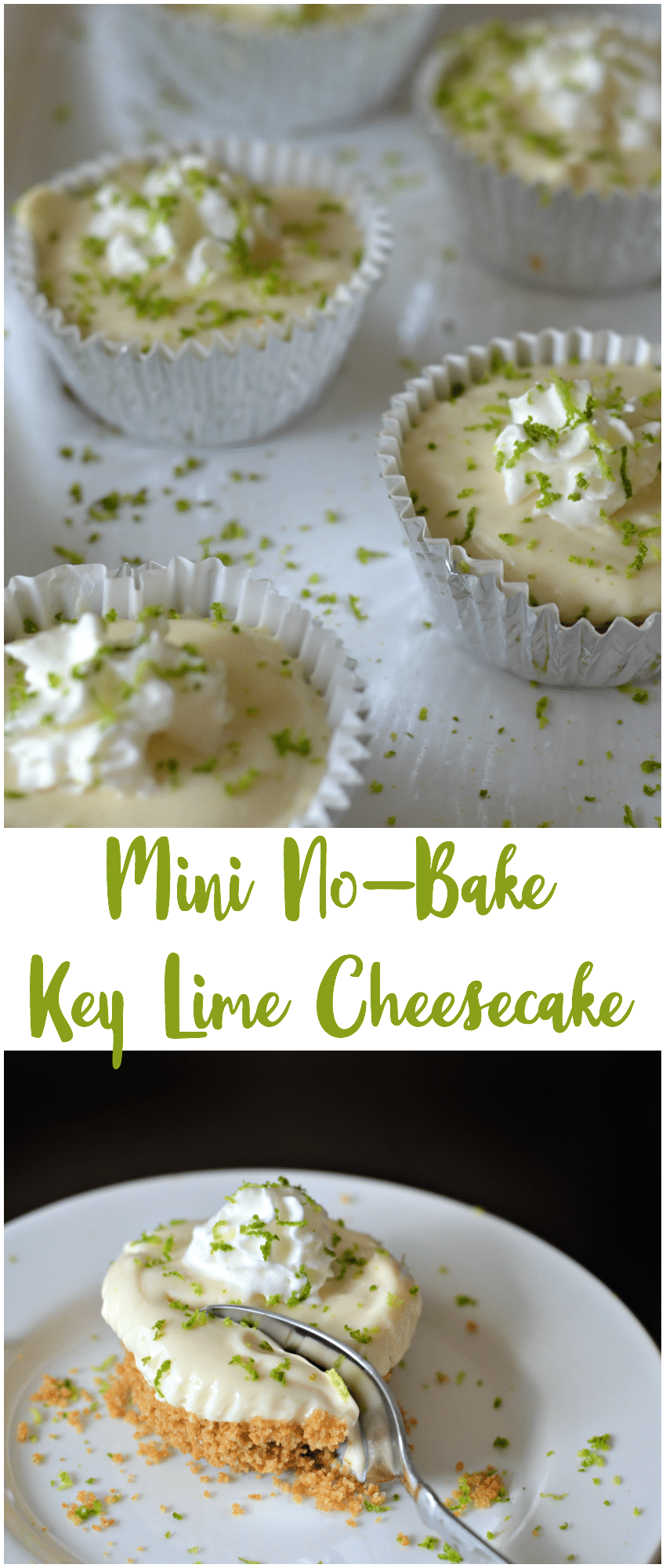 Mini No-Bake Key Lime Cheesecakes
