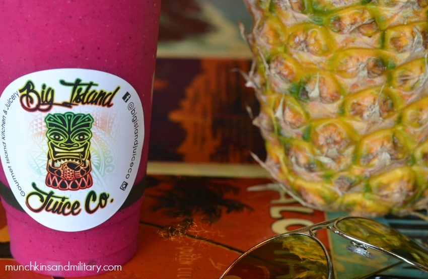 Brightly colored dragon fruit drink from Big Island Juice Co - Hilo, Big Island - Hawaii