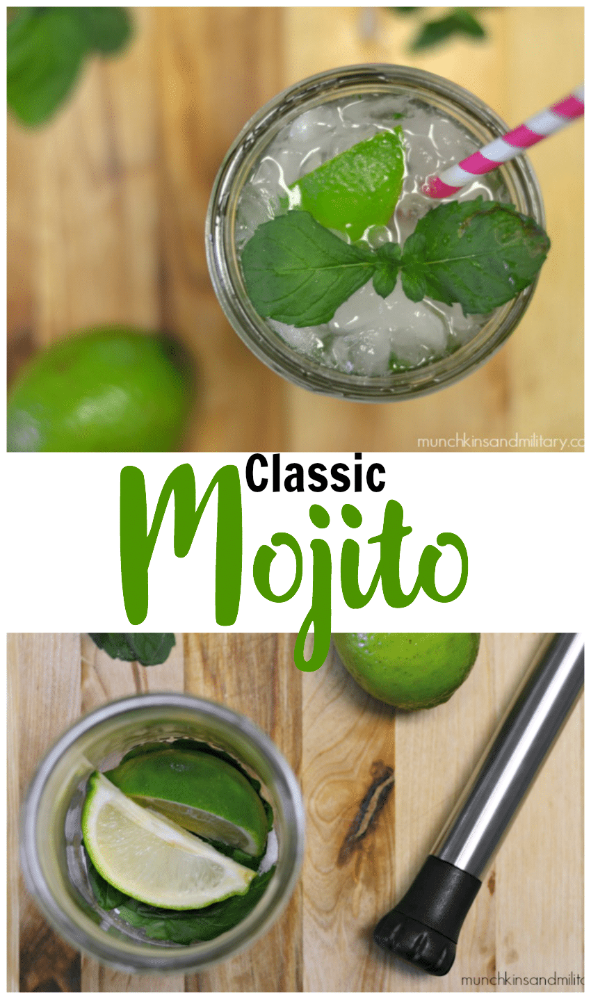 Sugar, mint, and lime muddled together then topped with rum and club soda create the perfect crisp and refreshing Mojito!
