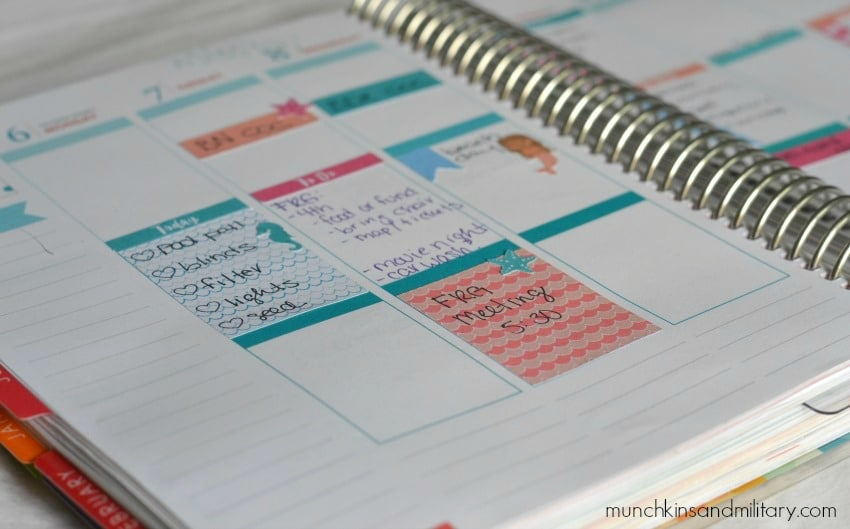 Free printable mermaid stickers sized for Erin Condren Life Planner