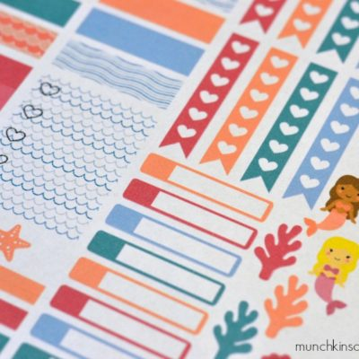 Printable Mermaid Stickers