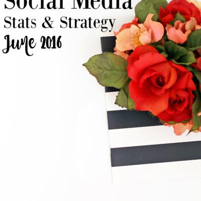 Social Media – Stats & Strategy: June 2016