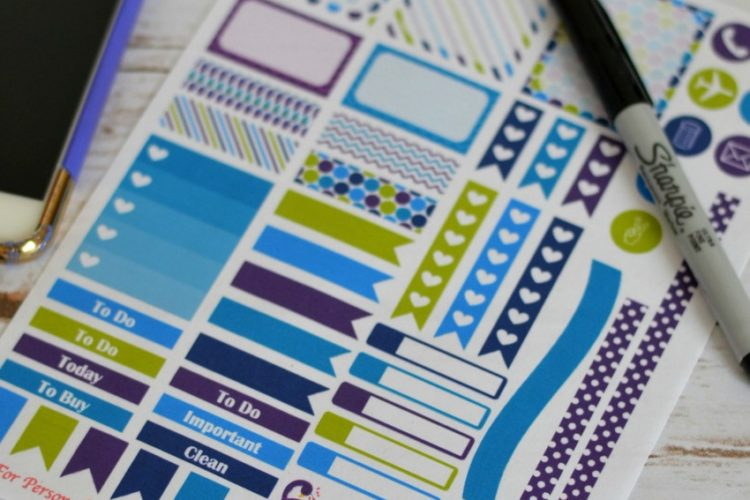 Purple Peacock Planner Stickers