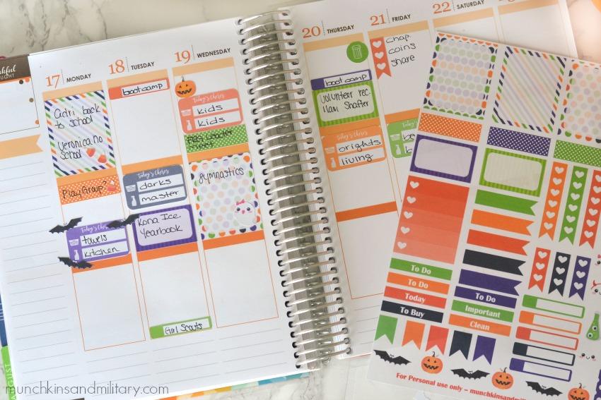 Erin Condren Life Planner - FREE Printable stickers for Halloween