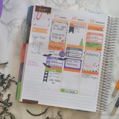 A Peak Inside My Planner