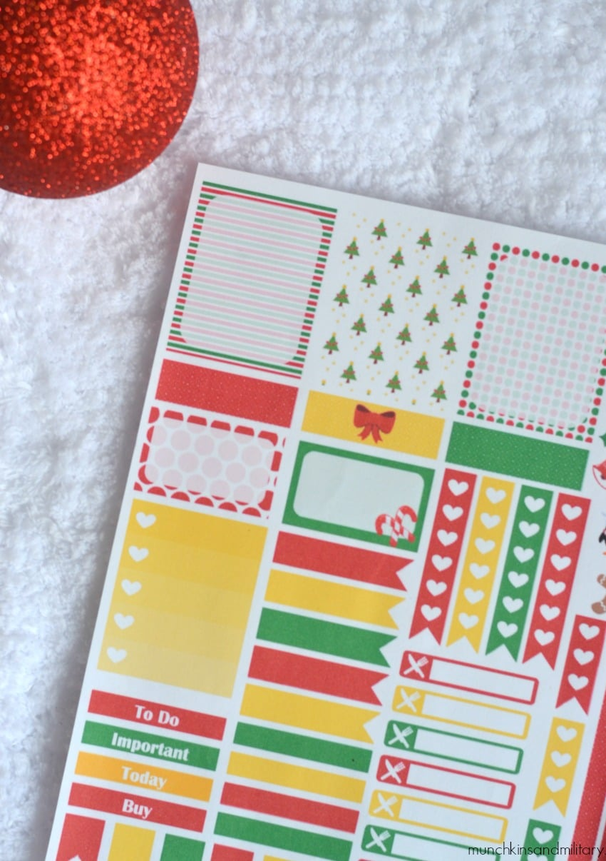 Free printable planner stickers for Erin Condren Life PLanner