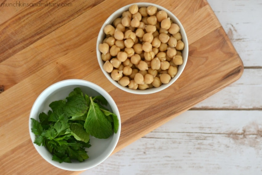Chick peas and herbs for dog treats