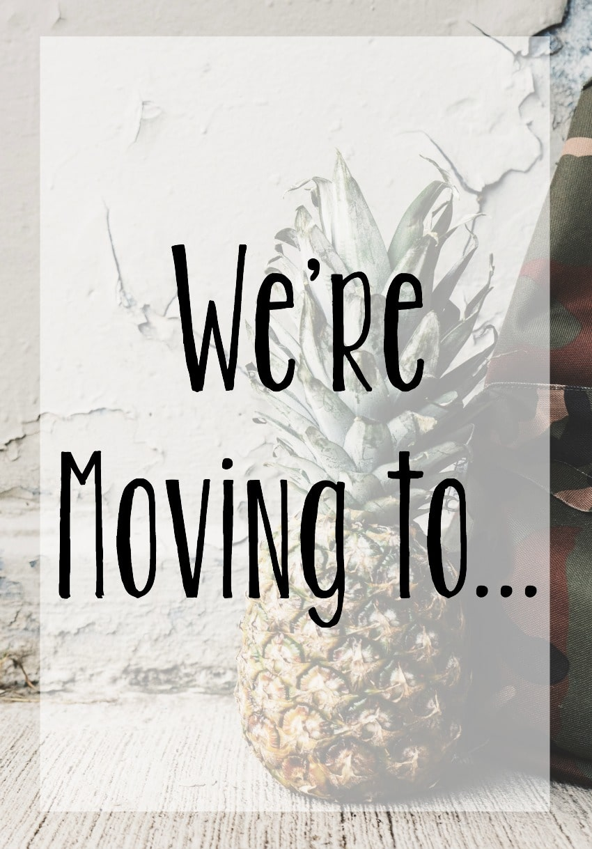 we're moving to...