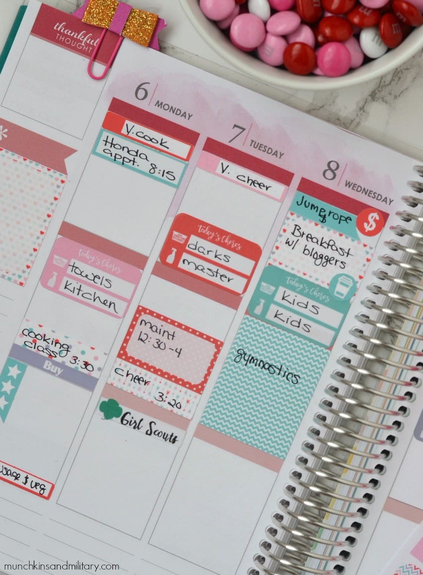 Erin Condren Life Planner layout + free printable stickers!