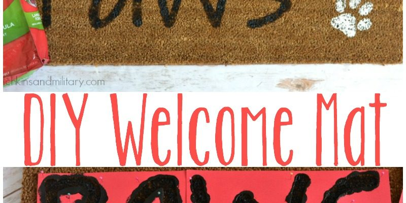 DIY Doggy Welcome Mat