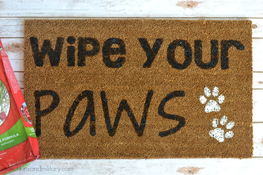 DIY wipe your paws welcome mat!