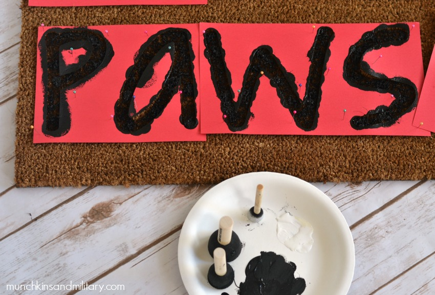 Creating a DIY welcome mat is simple!