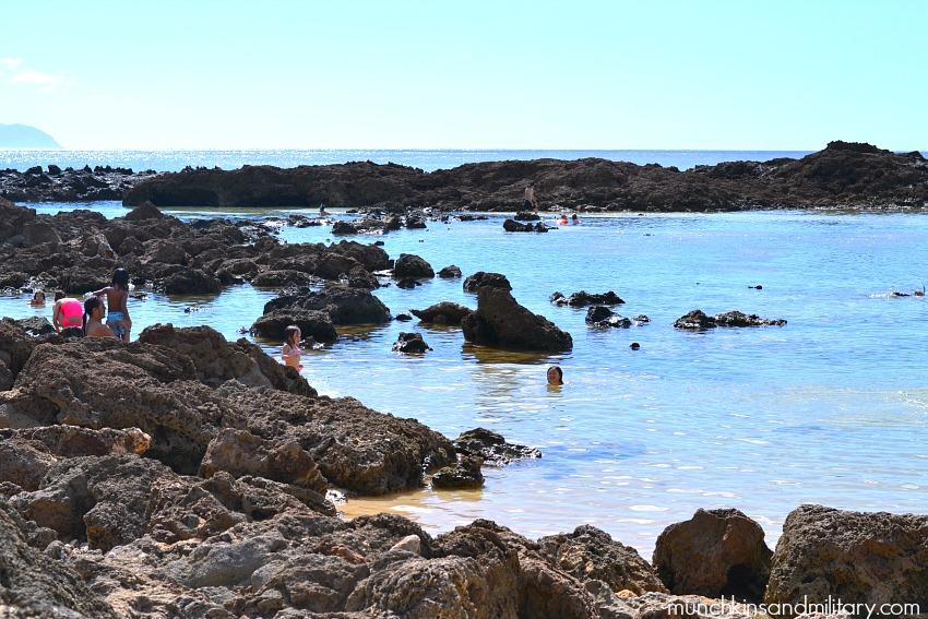 Pupukea Beach Park aka Shark's Cove - one of many kid-friendly beaches on Oahu