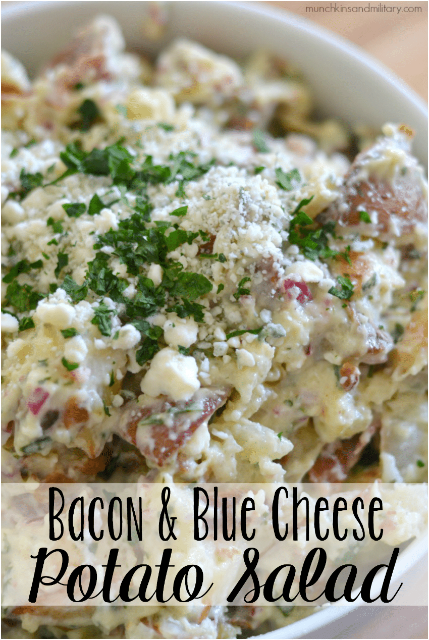 Bacon & blue cheese potato salad recipe