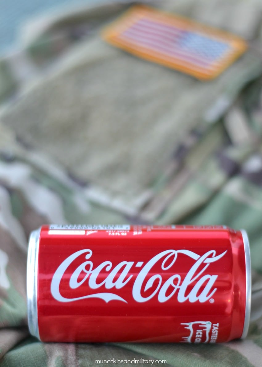 Coke and US Army uniform
