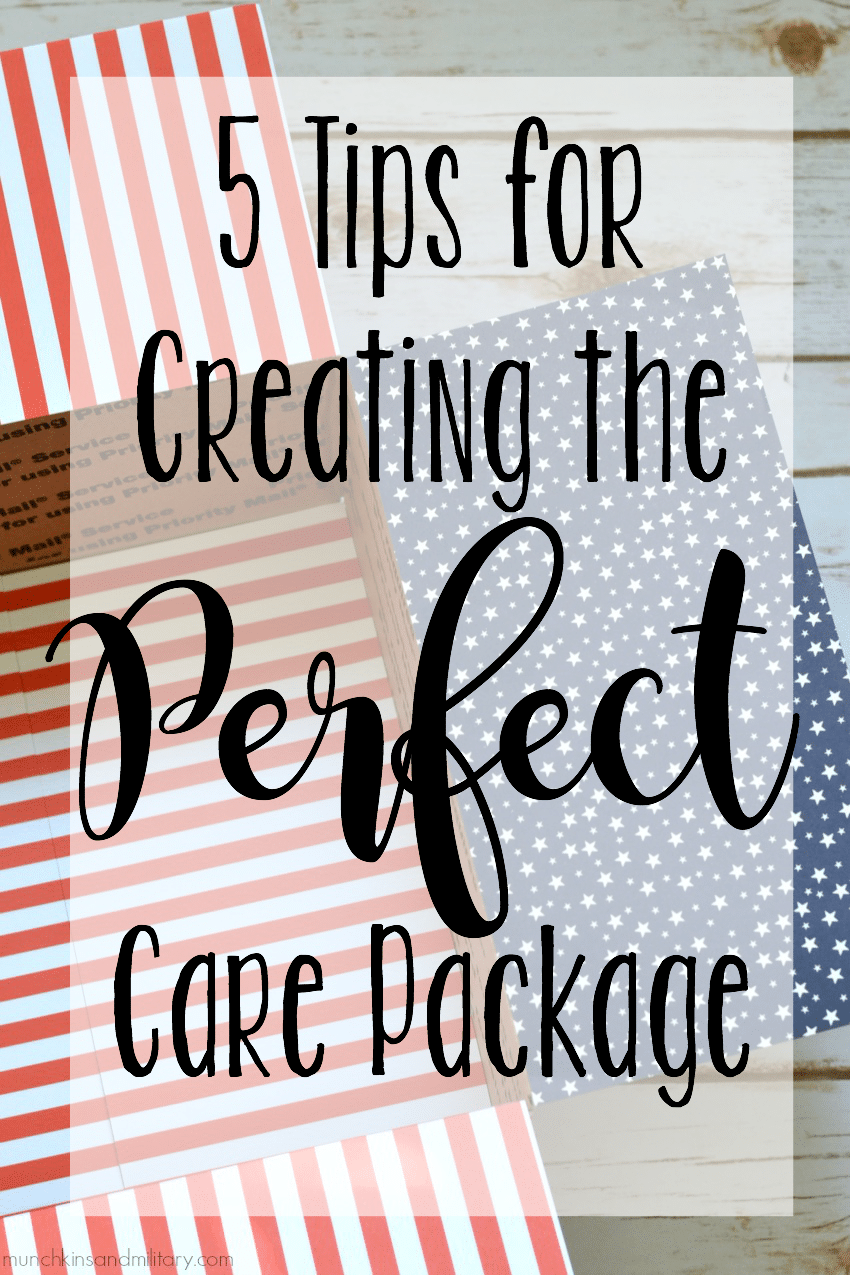 5 tips for creating the perfect military care package