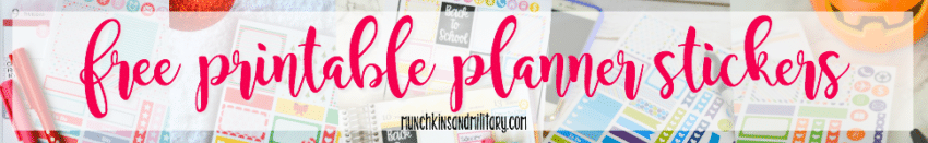 Can't get enough of these FREE printable planner stickers? Get them ALL here!